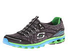 SKECHERS - Chill Out Elation (Black/Black/Lime) - Footwear