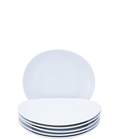 10 Strawberry Street - Royal White Oval Salad Plate - Set of 6
