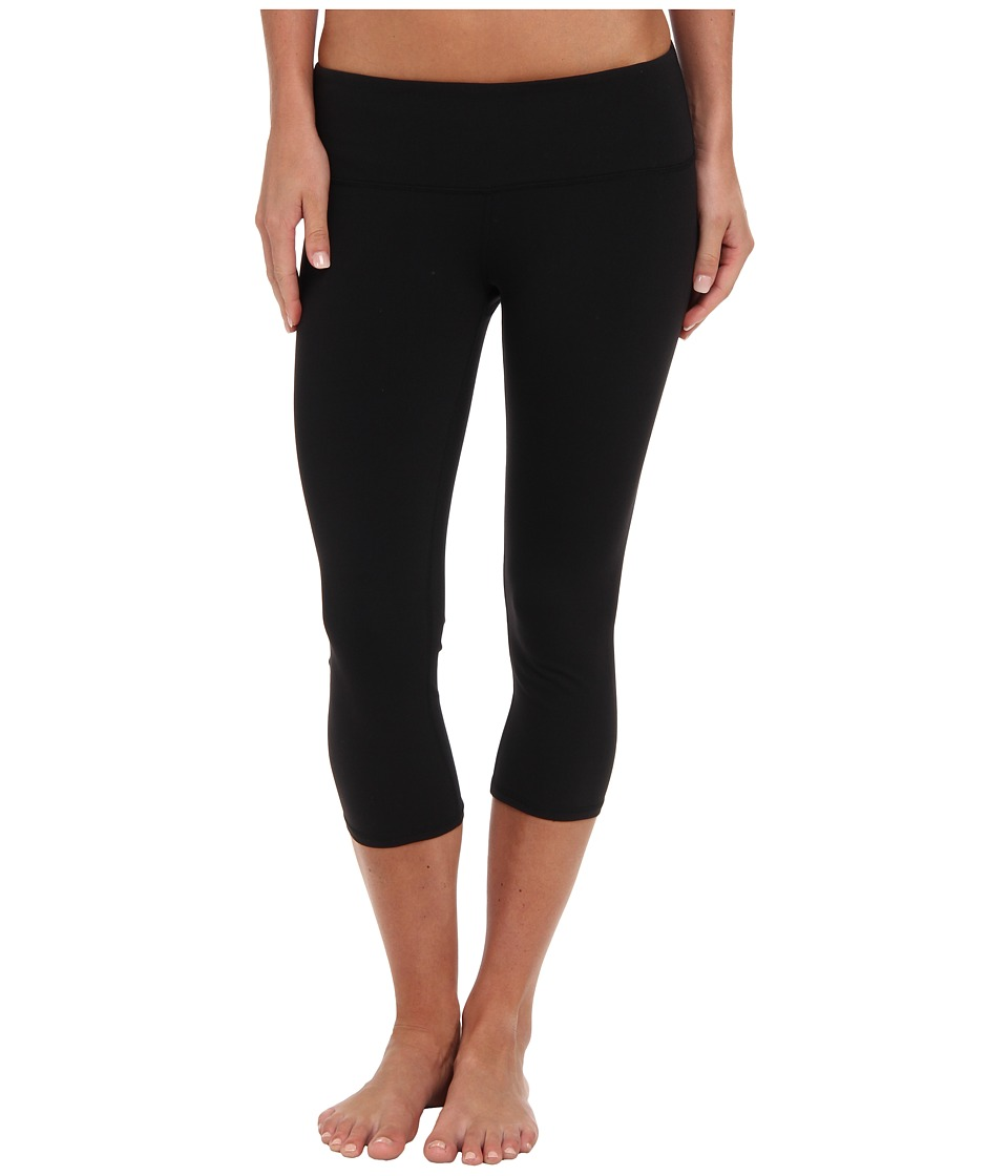 ALO Airbrushed Capri Black Womens Workout