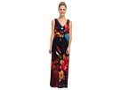 rsvp - Mckenna Maxi Dress (Red/Blue Multi)