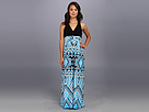 rsvp - Zina Maxi Dress (Blue Multi)