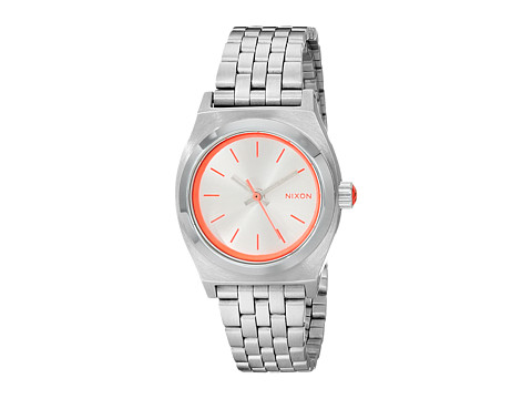 Nixon Small Time Teller - Silver/Neon Pink