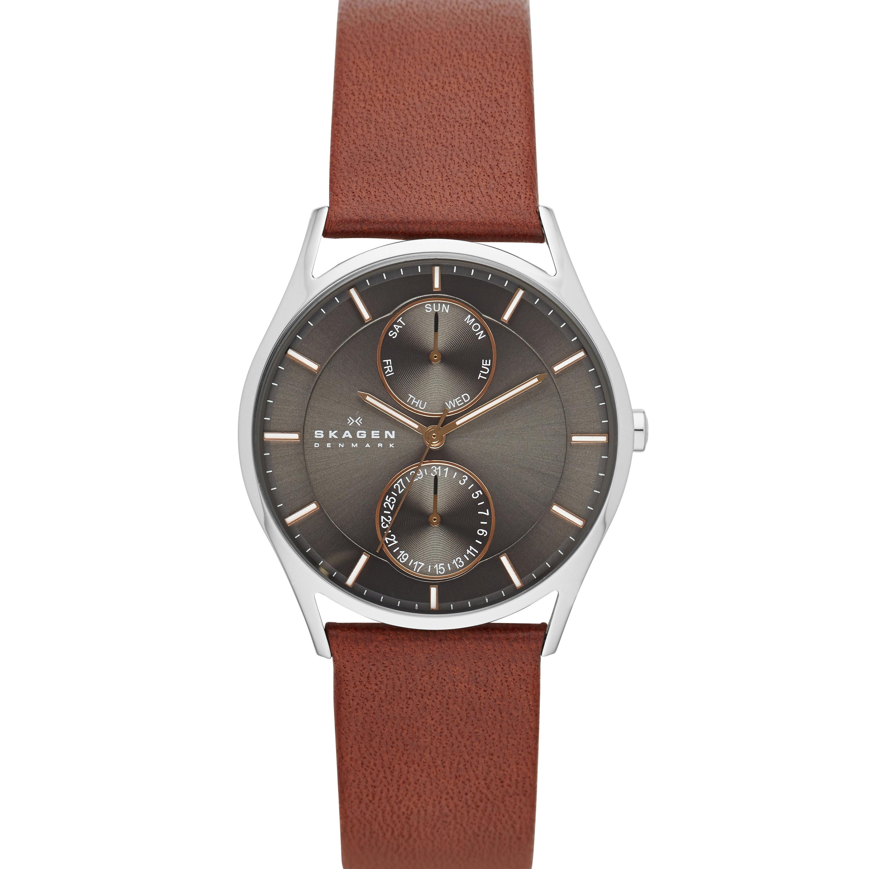 Skagen - SKW6086 (Silver/Brown) Analog Watches
