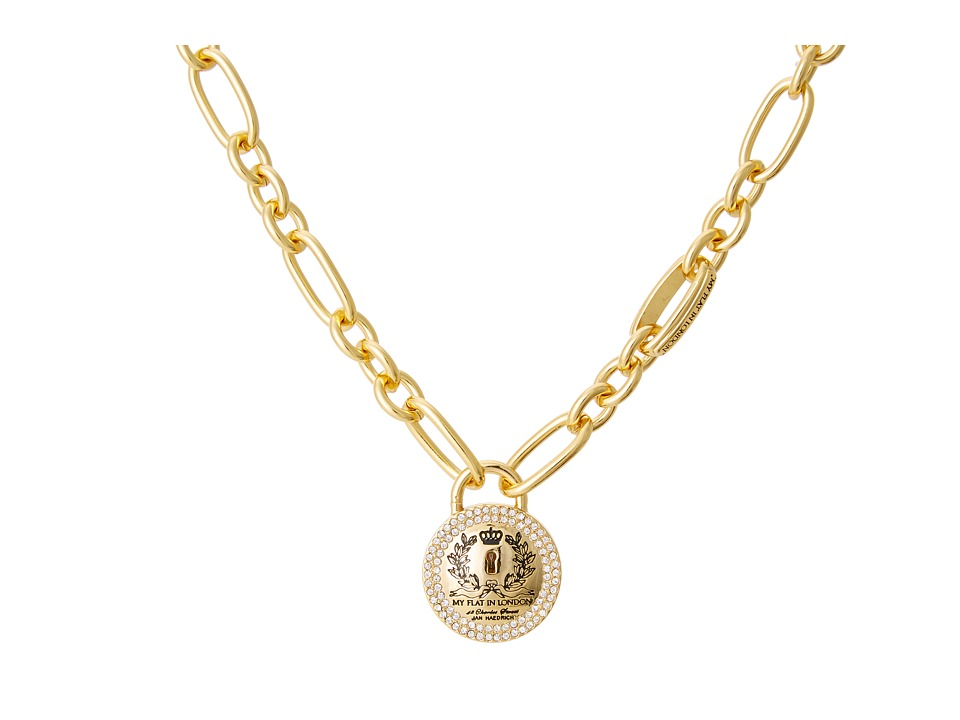 Image of My Flat In London Loves Locks Link Necklace (Gold) Necklace
