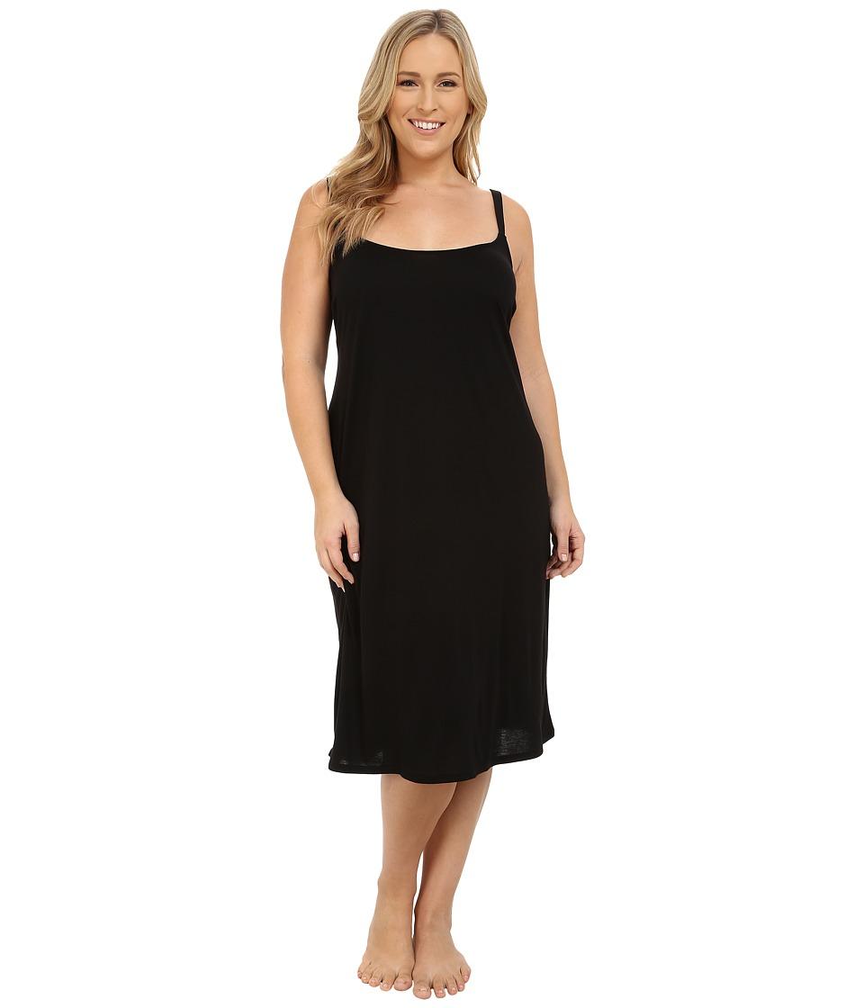 Natori Plus Size Shangri-La Gown (Black) Women's Pajama