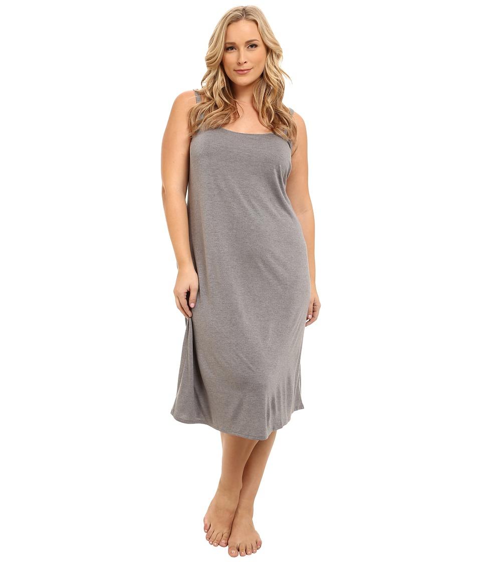 Natori Plus Size Shangri-La Gown (Heather Grey) Women's P...