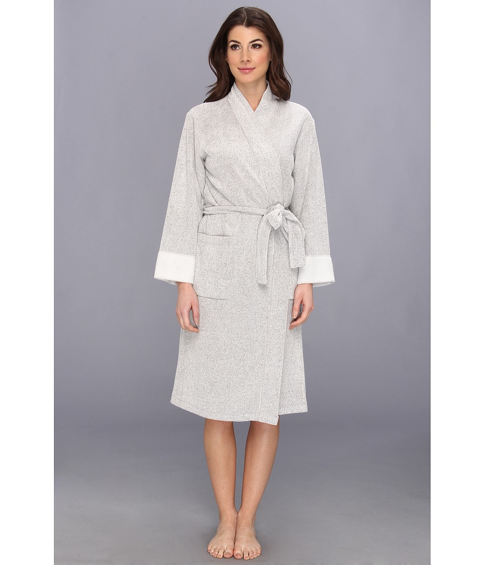 N by Natori N Natori Brushed Terry Nirvana Robe Heather Grey Womens Robe