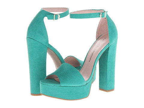 Shop Chinese Laundry online and buy Chinese Laundry Avenue Aqua Green Shoes - Chinese Laundry - Avenue (Aqua Green) - Footwear: Make a sweet splash with these saucy sandals on your feet! ; Adjustable buckle closure at ankle strap. ; Rich suede upper. ; Man-made lining. ; Lightly cushioned man-made footbed. ; Wrapped platform and heel. ; Man-made sole. ; Imported. Measurements: ; Heel Height: 5 1 2 in ; Weight: 13 oz ; Platform Height: 1 1 2 in ; Product measurements were taken using size 8, width M. Please note that measurements may vary by size.