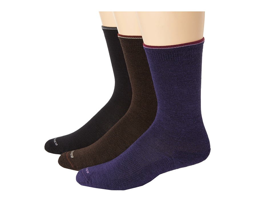 Goodhew Skinny Minnie 3 Pack Black/Espresso/Concorde Womens Crew Cut Socks Shoes