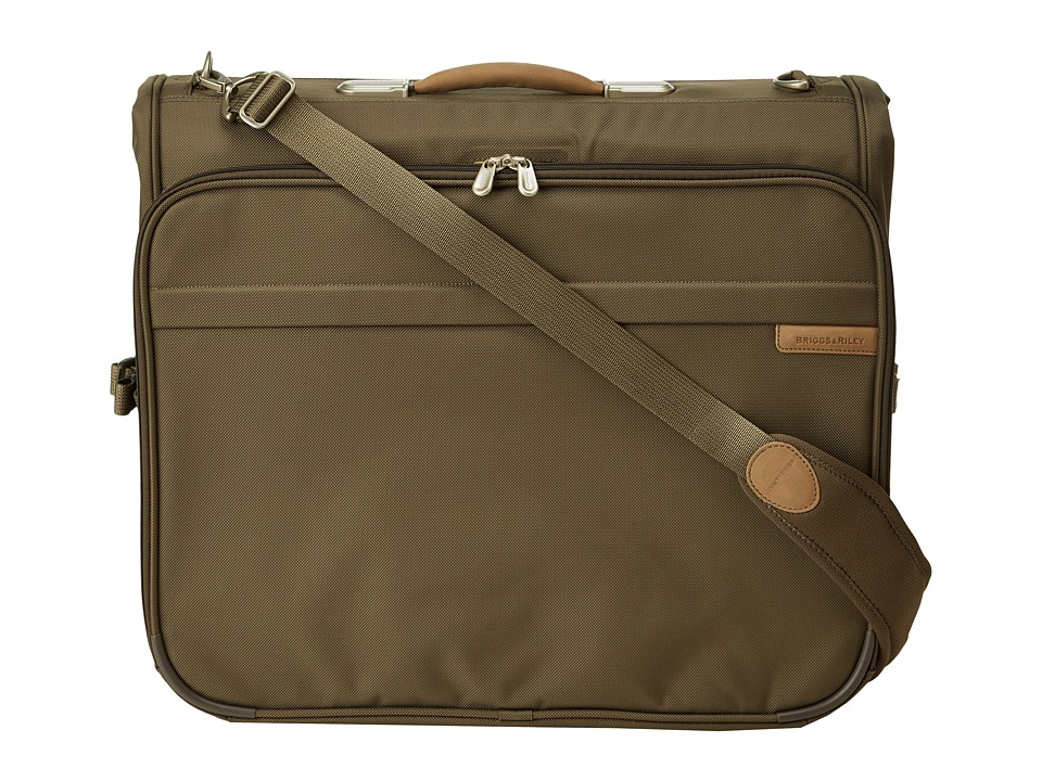 Briggs amp Riley Baseline Deluxe Garment Bag Olive Luggage