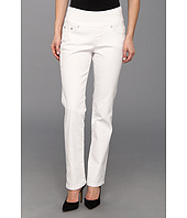 Jag Jeans Petite - Petite Peri Pull-On Straight Jean in White