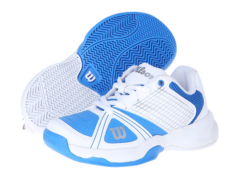 Wilson - Rush NGX Junior (Little Kid/Big Kid) (Pool/White/Silver) - Footwear
