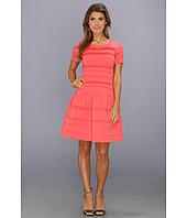 Eliza J  Cap Sleeve Drop Waist Dress With Stitching  image