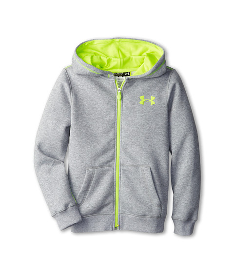 Under Armour Kids Rival Cotton Full Zip Hoodie (Big Kids) - Zappos.com