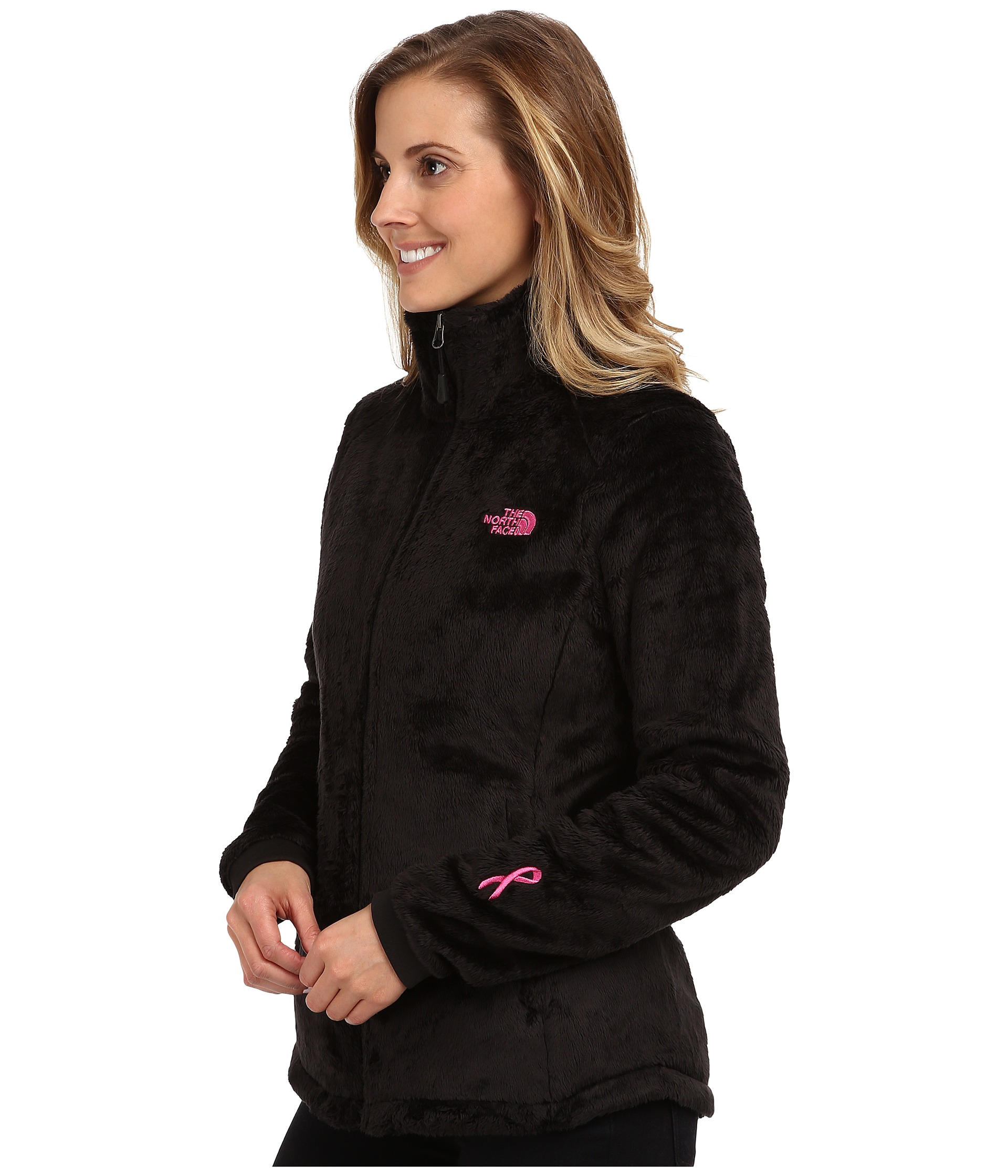 where to buy the north face womens pink ribbon osito jacket black white  ba02a db22f da483c28c1