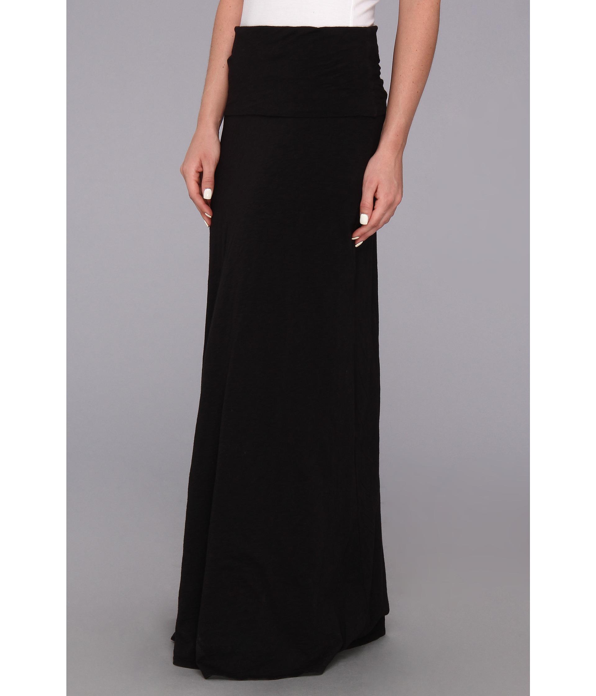 velvet by graham and spencer rosabel02 maxi skirt black