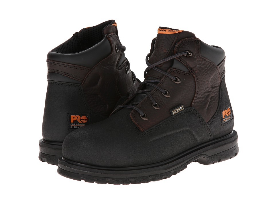 Timberland PRO - Power Welt 6 Waterproof Steel Toe (Rancher Brown Oiled Full-Grain Leather) Men
