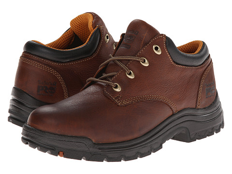 Men's Timberland PRO TiTAN Oxford Safety Toe, Size: 7.5 W, Haystack Brown Oiled Leather