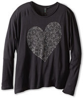 United Colors of Benetton Kids - Girls' Cropped L/S Heart Sweater (Little Kids/Big Kids)