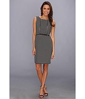 Ivy & Blu Maggy Boutique - Sleeveless Striped Sheath w/ Inset Dress