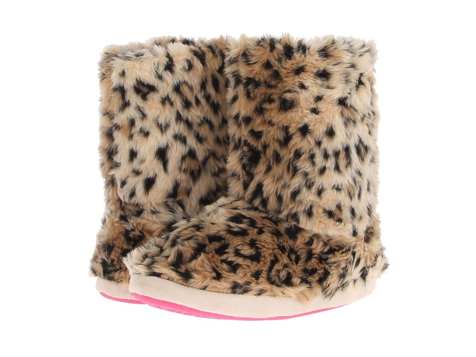 M&F Western Furry Boot Slippers (Brown Leopard) Women