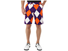 Loudmouth Golf Purple and Orange Short