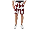 Loudmouth Golf Maroon and White Short