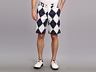 Loudmouth Golf Navy and White Short