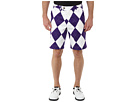 Loudmouth Golf Purple and White Short