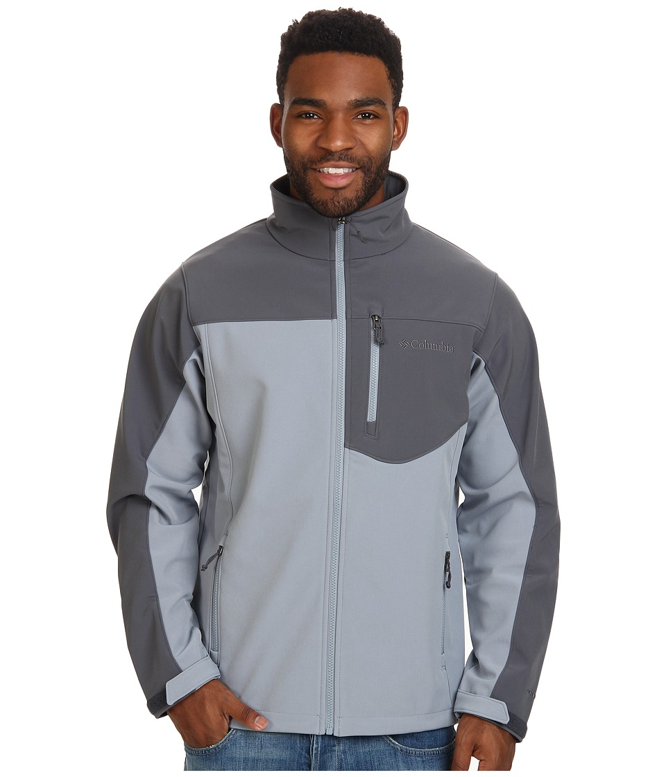 Columbia - Prime Peak Softshell Jacket (Tradewinds Grey/Graphite) Men
