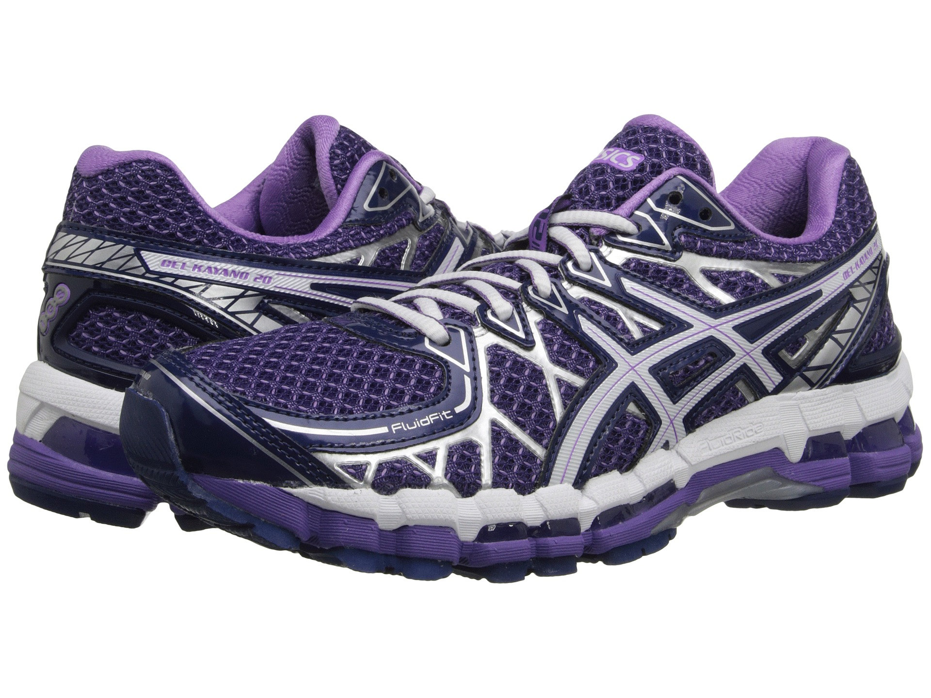 asics gel kayano 20 purple white lavender. Black Bedroom Furniture Sets. Home Design Ideas