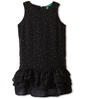 United Colors of Benetton Kids - Girls' Black Ruffle Dress (Little Kids/Big Kids)
