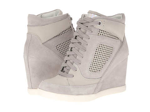 Shop French Connection online and buy French Connection Marla Warm Grey Natalisa PU Shoes - French Connection - Marla (Warm Grey Natalisa PU) - Footwear: Swear on style! Nothing can stop you in these divine French Connection wedge sneakers. ; Suede and fabric upper. ; Lace closure. ; Perforated detailing. ; Leather lined. ; Lightly cushioned leather insole. ; Contrast color sole. ; Synthetic outsole. ; Imported. Measurements: ; Heel Height: 3 1 2 in ; Weight: 15 oz ; Platform Height: 1 2 in ; Product measurements were taken using size 39 (US Women's 9), width M. Please note that measurements may vary by size.