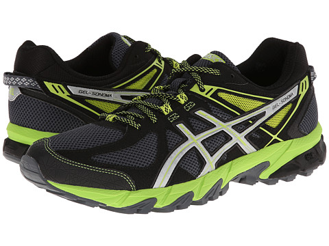 asics womens gel sonoma trail running shoes graphite/silver/magenta