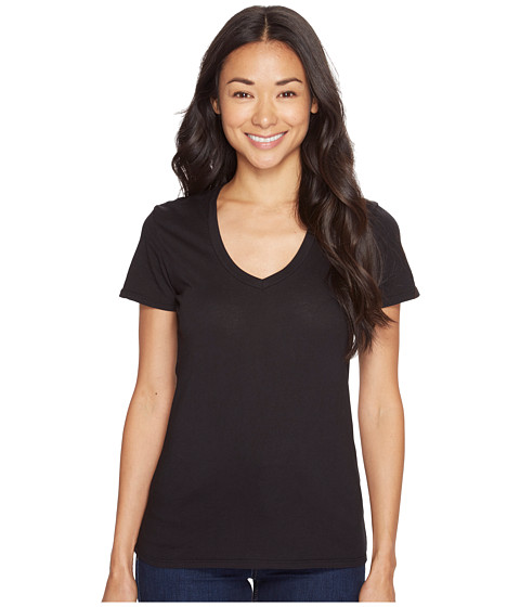 Mod-o-doc - Supreme Jersey Fitted S/S V-Neck (Black) Women's T Shirt