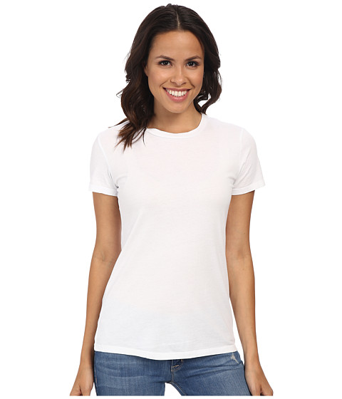 Mod-o-doc Supreme Jersey Fitted S/S Crew (White) Women's T Shirt