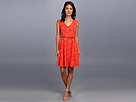 Donna Morgan - Off Shoulder Dress With Full Skirt (Orange Blaze/Fuchsia)