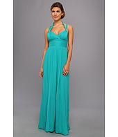 BCBGMAXAZRIA - Kadence Silk Halter Gown