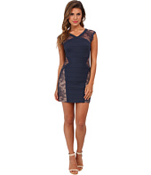 BCBGMAXAZRIA - Jess Lace Contrast Dress