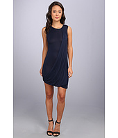 BCBGMAXAZRIA - Evie Draped Side Bubble Skirt Dress