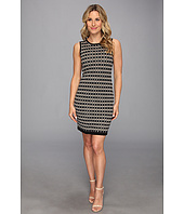 Vince Camuto - S/L Jacquard Colorblock Dress