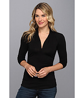 Vince Camuto - 3/4 Sleeve Pleat V-Neck Top