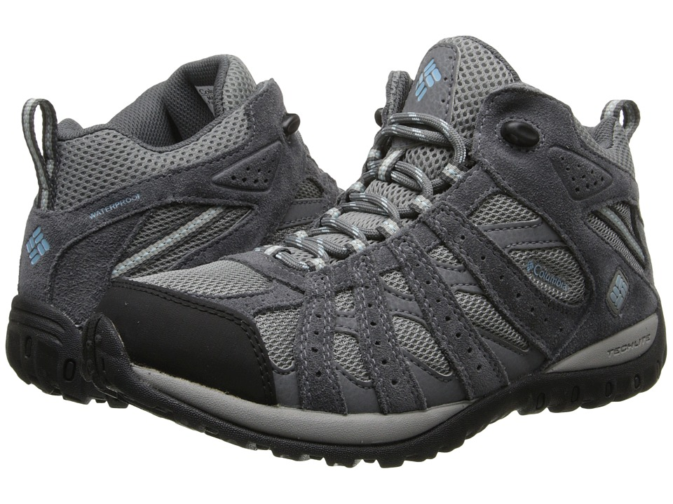 Columbia Redmondtm Mid Waterproof (Light Grey/Sky Blue) Women's Shoes
