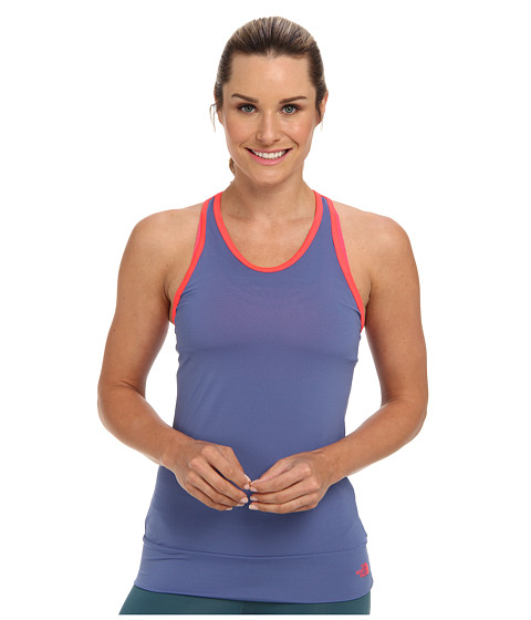 The North Face - Pulse Active Tank (Vintage Blue/Rocket Red) - Apparel