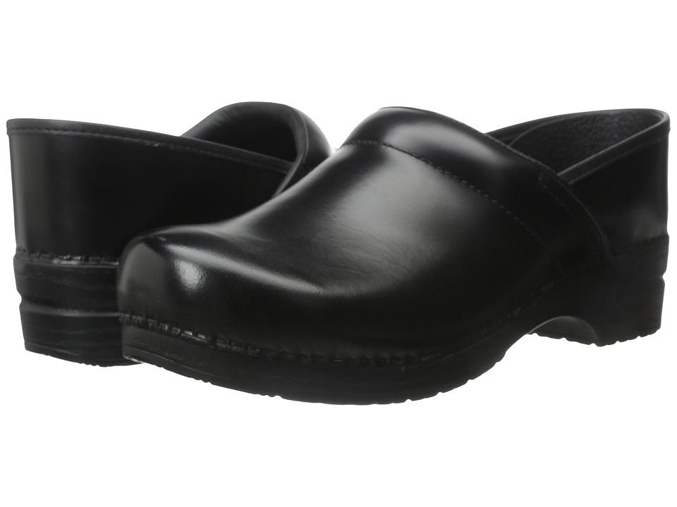 Dansko Professional (Black Cabrio Leather) Men's Clog Shoes