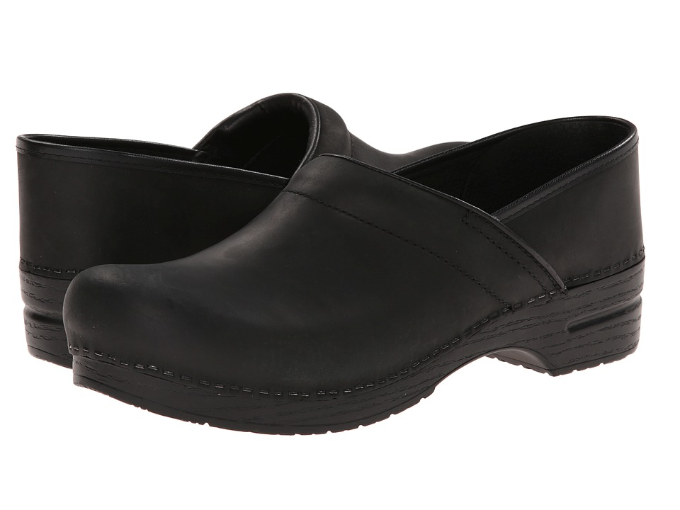 Shop Dansko online and buy Dansko Professional Oiled Leather Men's Black Oiled Men's Clog Shoes online