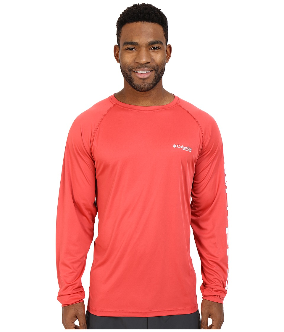 Columbia Terminal Tackle L/S Shirt (Sunset Red/White Logo) Men