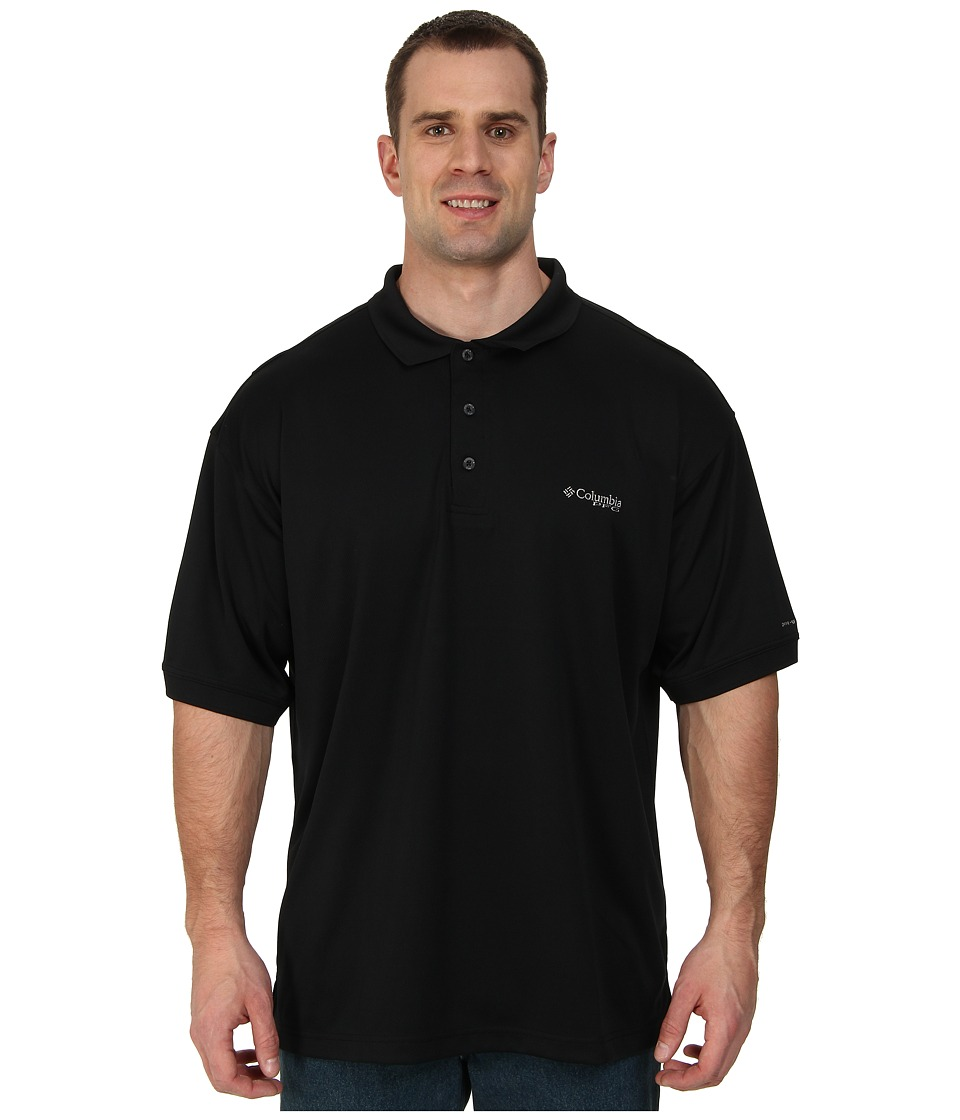 Columbia - Perfect Casttm Polo - Extended (Black) Men's Clothing