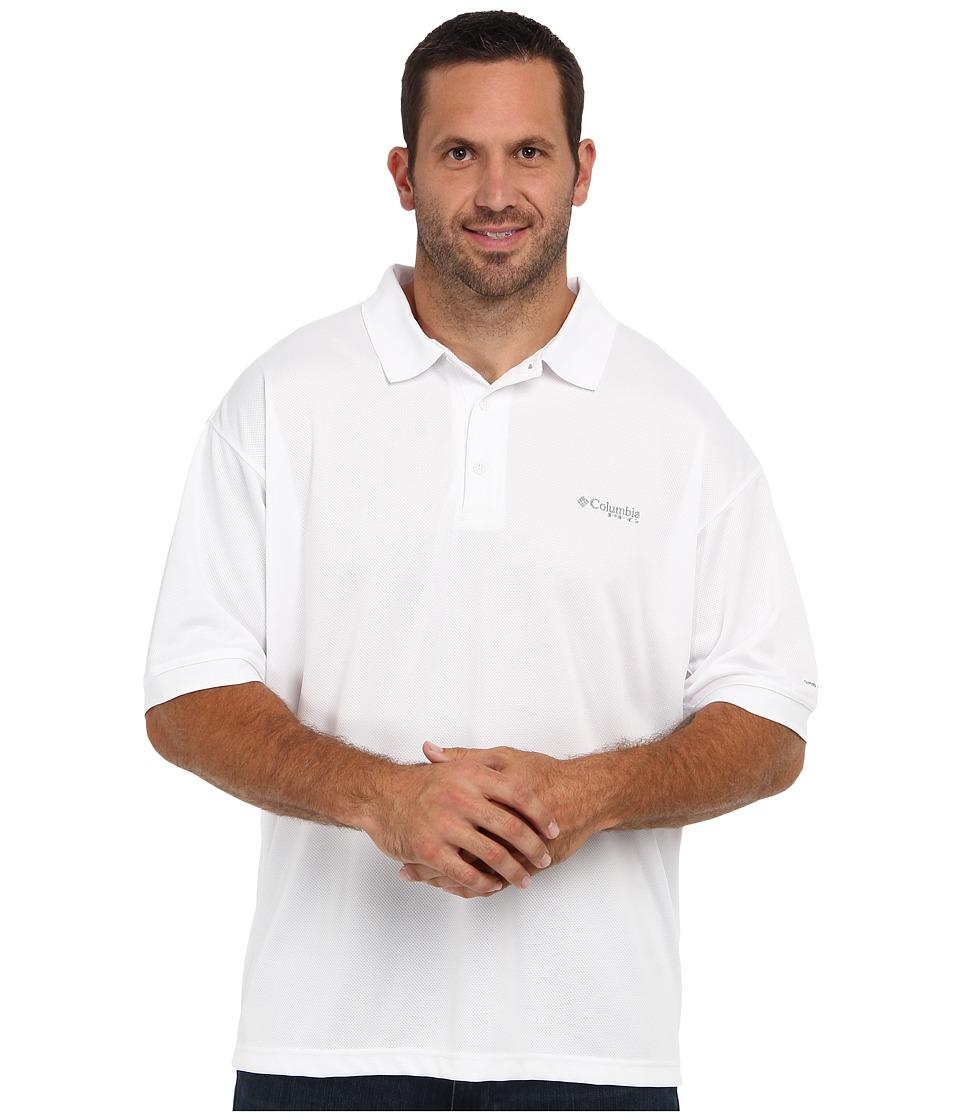 Columbia Big Tall Perfect Casttm Polo (White) Men's Clothing