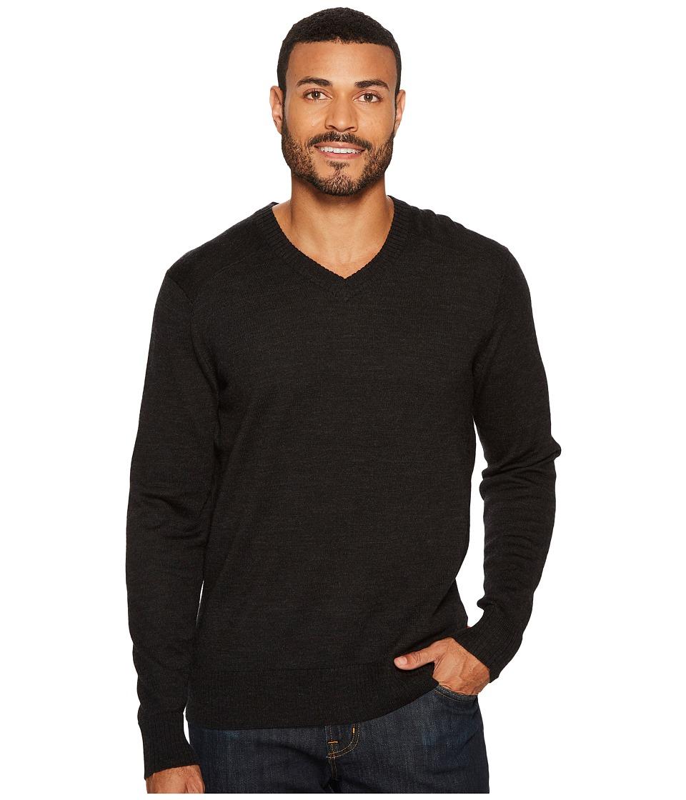 Smartwool Kiva Ridge V-Neck Sweater (Charcoal Heather) Men